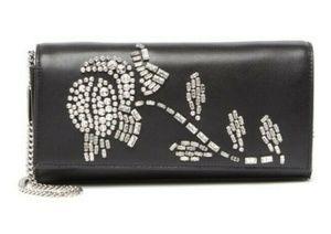 NWT Michael Kors Bellamie Black Leather Clutch